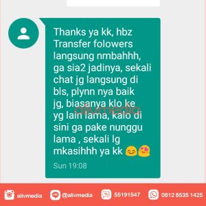 Testimoni jasa follower instagram alivmedia